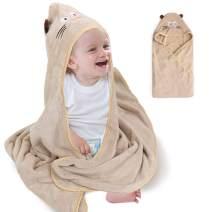 TekkPerry Hooded Towel for Kids, Toddler Bath Towel, Hooded Towel Toddler, Baby Bath Towels, Soft Baby Blankets, Absorbent Bathrobe for Girls Boys (Cat)