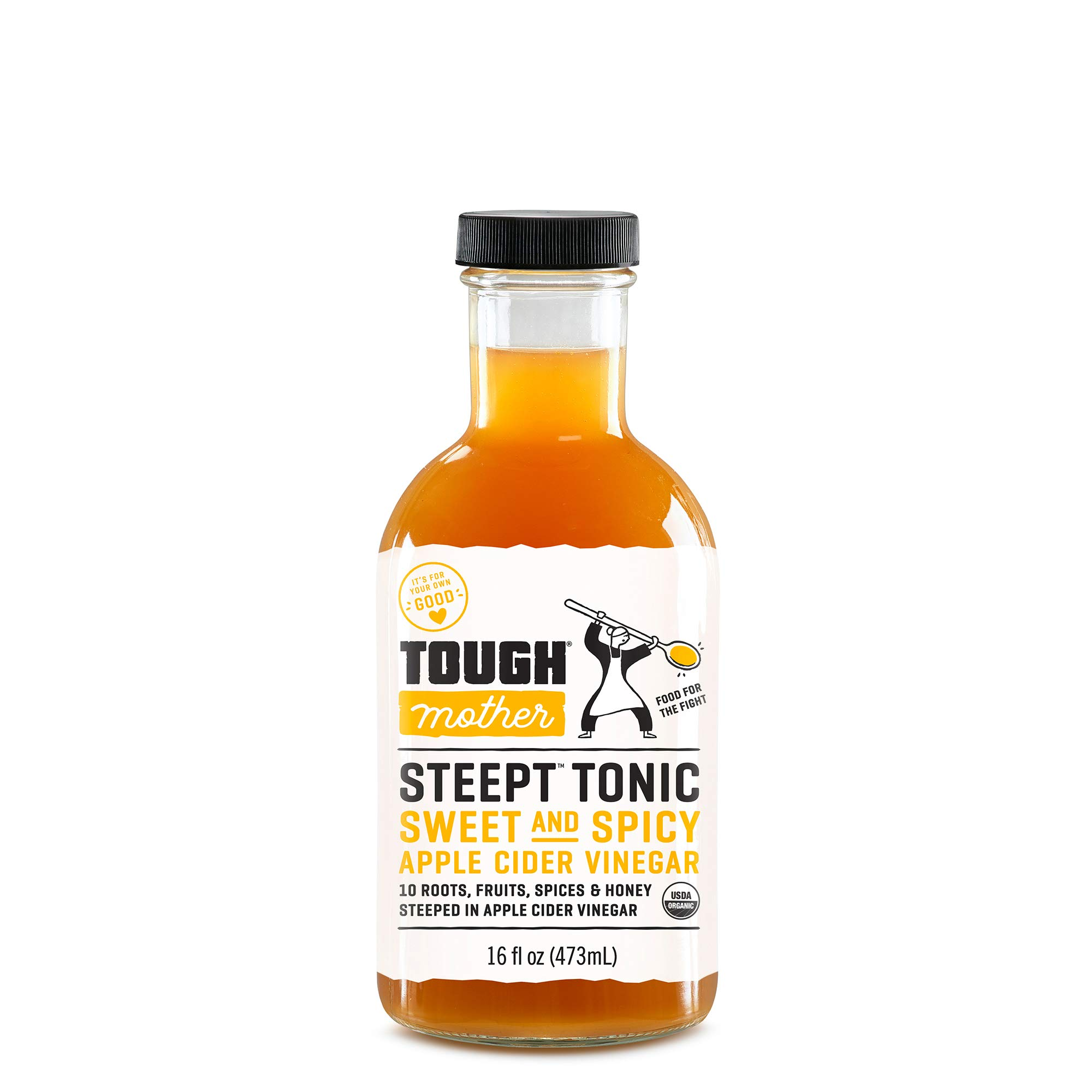 Tough Mother Steept Health Shots - Sweet & Spicy, Certified Organic (16oz)