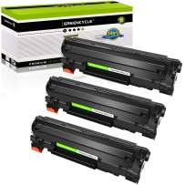 GREENCYCLE 3 Pack Compatible for Canon 125 3484B001AA Cartridge 125 CRG 125 C125 Black Toner Cartridge for ImageClass LBP6000 LBP6030w MF3010 Laser Printer