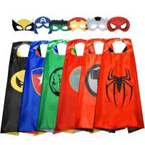 EASONY Toys for 3-10 Year Old Boys, Superhero Capes for Kids 3-10 Year Old Boy Gifts Boys Cartoon Dress up Costumes Party Supplies Stocking Stuffer