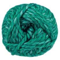 90 Yard Skein of Super Bulky (Size 6) Dual Blend Yarn – 50% Wool and 50% Acrylic – Create Scarves, Cowls, Gloves, and Hats (Caribbean)