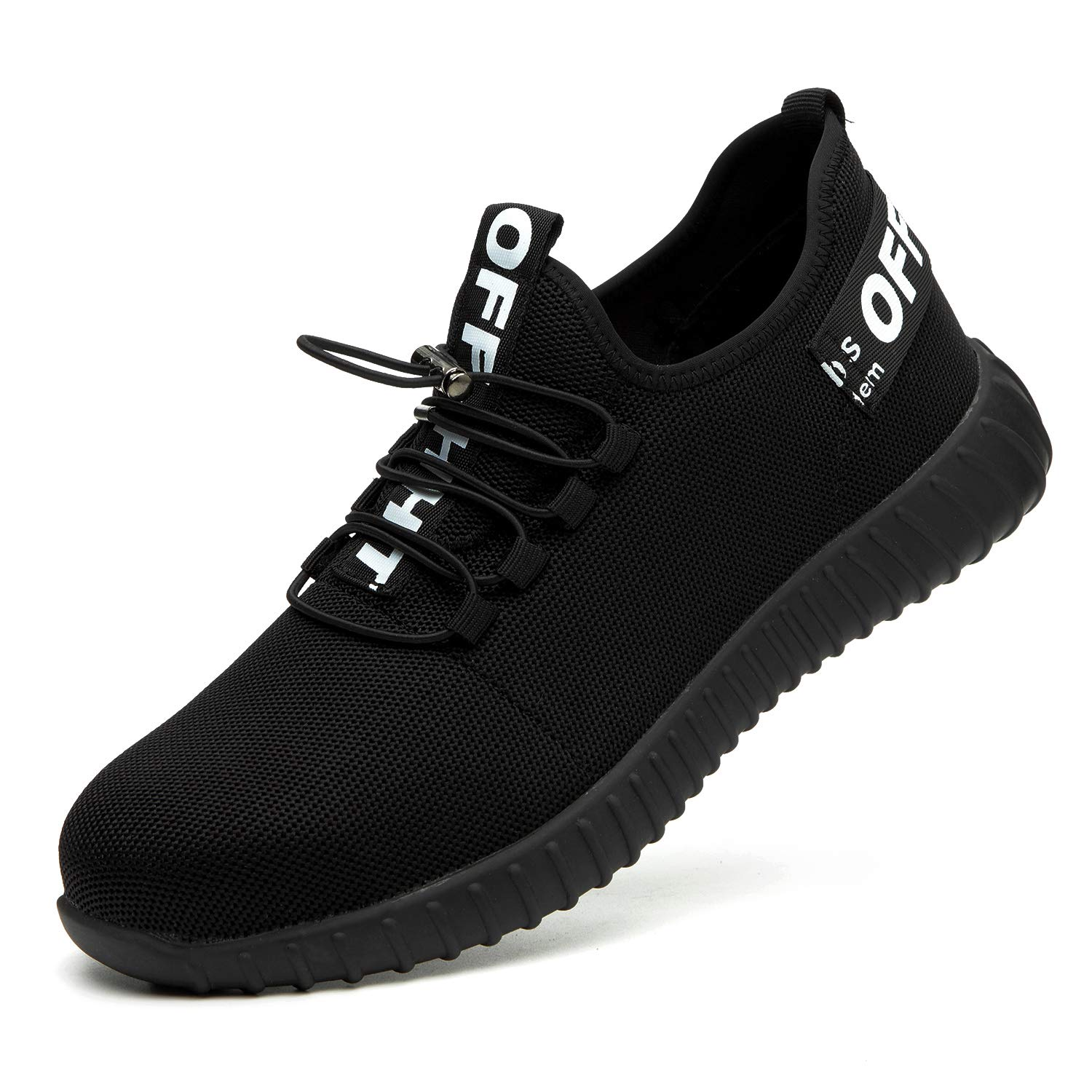 ORISTACO Steel Toe Safety Shoes for Mens, Work Shoes Lightweight Comfort Slip Resistant Industrial Construction Sneakers