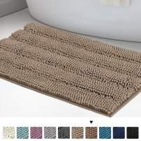 "Chenille Bathroom Rugs Bath Bath Mats for Bathroom Shaggy Rugs for Bedroom Chenille Bath Rugs 1 Piece Non Slip Super Absorbent Washable Bath Mat, 20""x 32"", Taupe Brown"