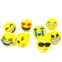 Fun Central 24 Pack - LED Jelly Emoji Rings - Flashing Emoji Party Supplies and Decorations - 8 Designs