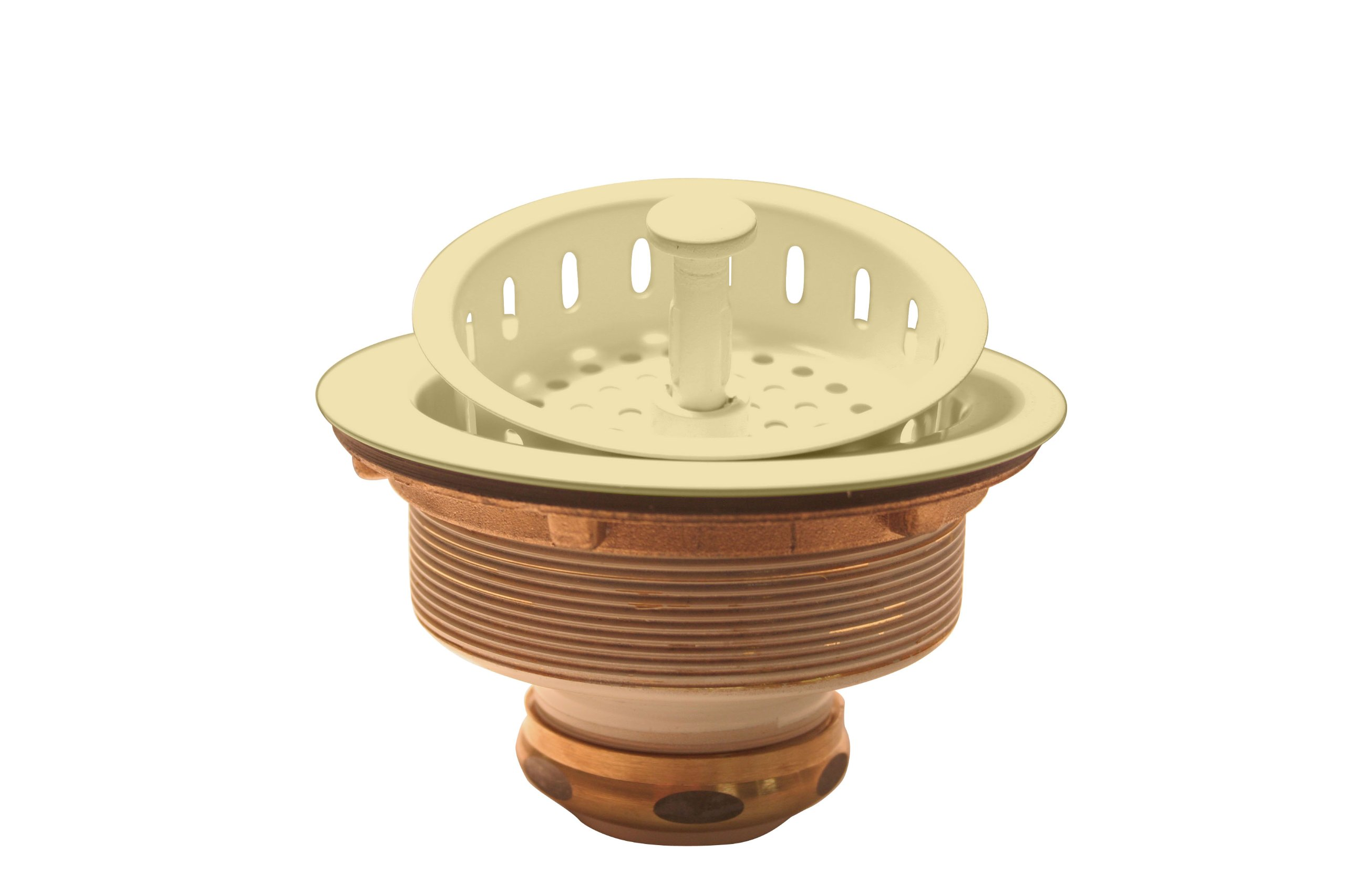 "Westbrass D214-51 3-1/2"" Post Style Kitchen Basket Strainer, Almond"