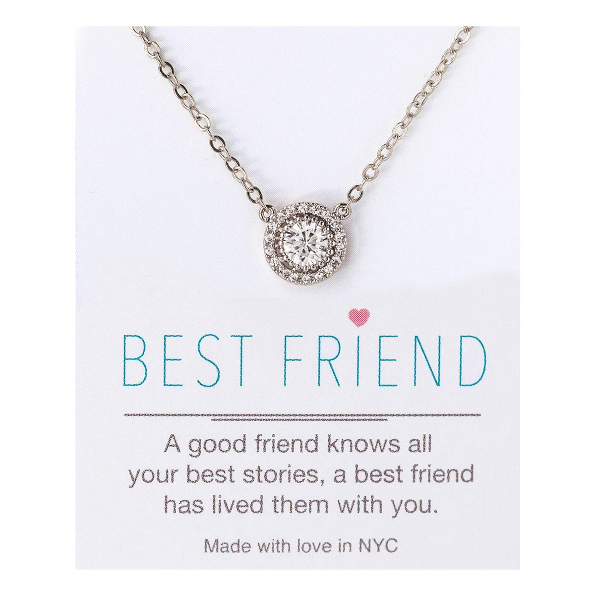 A+O Friendship Necklace - CZ Pave Necklace in Gold, Rose Gold, Sterling Silver