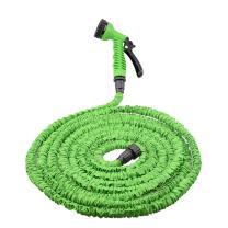 TeTeBak 75ft Expandable Garden Hose, 3 Times Expanding Water Hose with 7-Pattern Spray Nozzle, Heavy Duty Flexible Hose, Green