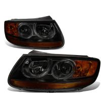Replacement for Santa Fe CM 2nd Gen Pair of Smoked Lens Amber Corner Replacement Headlight Lamp