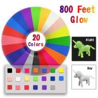 3D Pen/3D Printer Filament(16 Colors, 320 Feet) Bonus 250 Stencils eBooks - Dikale 3D Pen Filament 1.75mm PLA for Tecboss Nulaxy etc (800 Feet 20 Colors New)…
