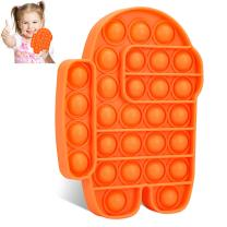 BEICHEN Fidget Toys, Push Popping Bubble Sensory Fidget Toys, Silicone Bubble Sensory Toys Stress and Anxiety Relief Toys for Adults and Kids with ADD, ADHD, Autism Special Needs (Orange)