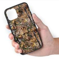 TMVFPYR Camo Hunting Deer Bear Moose Turkey Duck Case for iPhone 11 Pro Max, TPU Soft-Edge Scratch-Resistant Protective Hard Case with Bullet-Proof Glass