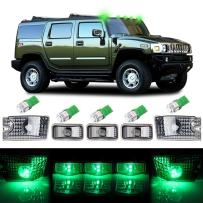 cciyu 5pcs Green Cab Marker Light Top Roof Marker Light Replacement fit for 2003-2009 for Hummer H2