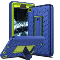 Venoro Case for All-New Amazon Fire 7 Tablet, Shockproof Armor Defender Protective Case Cover with Kickstand for Amazon Kindle Fire 7 2017 (Navy Blue)