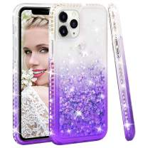 SOKAD iPhone 11 Pro Max Case Gradient Quicksand Glitter Bling Flowing Liquid Floating Soft TPU Bumper and Hard PC Shockproof Diamond Case for iPhone 11 Pro Max 2019 6.5 Inch-Purple