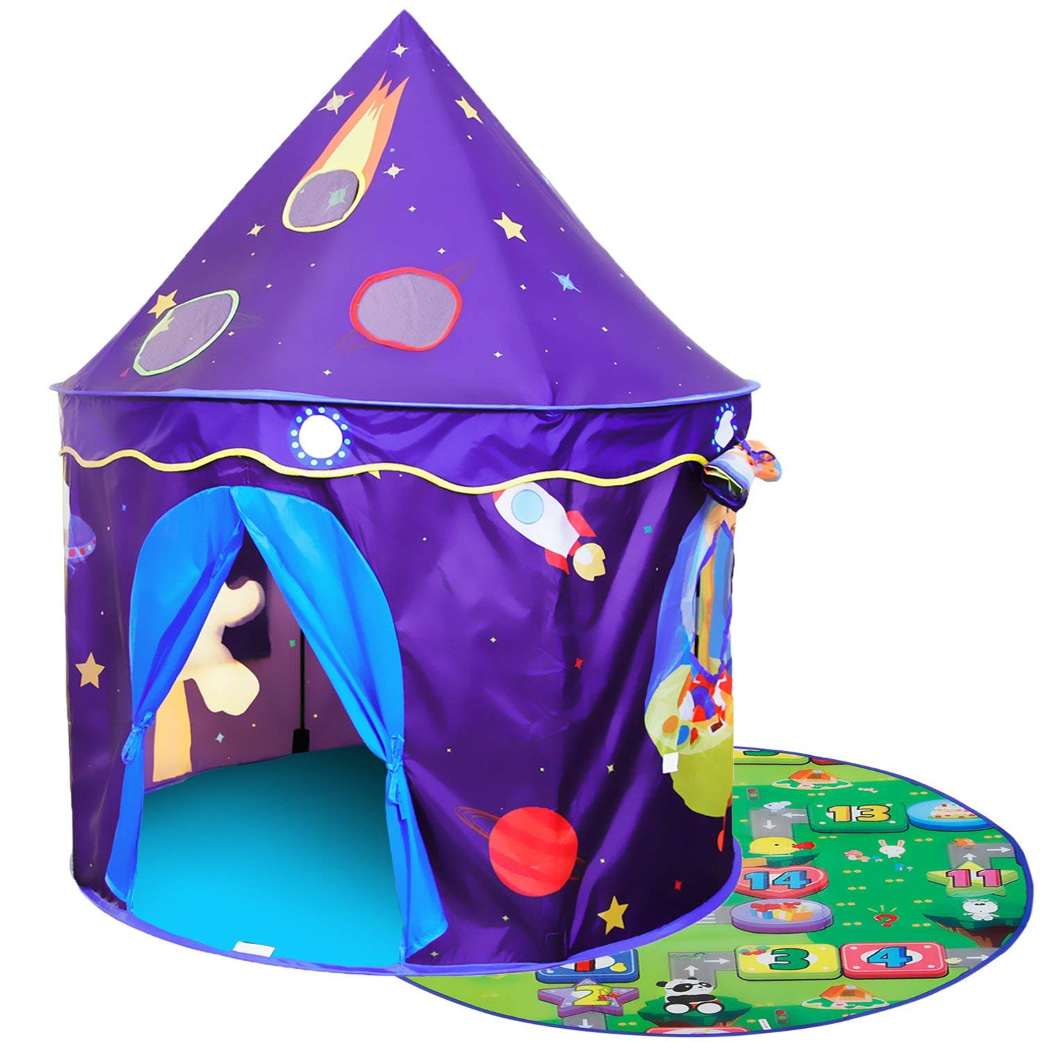 ALPIKA Play Tent Kids Toy Children Space Castle with Mat As Best Gift for Boys Girls for Toddler Playing
