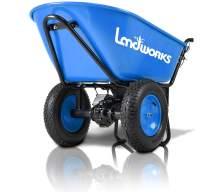 Landworks Electric Wheelbarrow Utility Cart Super Duty 24V DC 180W AGM Battery Powered Driven 330LBS (150kgs) Max Capacity & 4cu.ft. of Cubage Barrel Dump All Purpose Material Debris Hauler