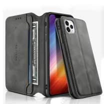 iPhone 11 Pro Wallet Case, REALIKE iPhone 11 Pro Case PU Leather iPhone 11 Pro Flip Cover Case with Card Slot Holder Pocket Shockproof Protection Magnetic Closure Case for Men and Women - Gray