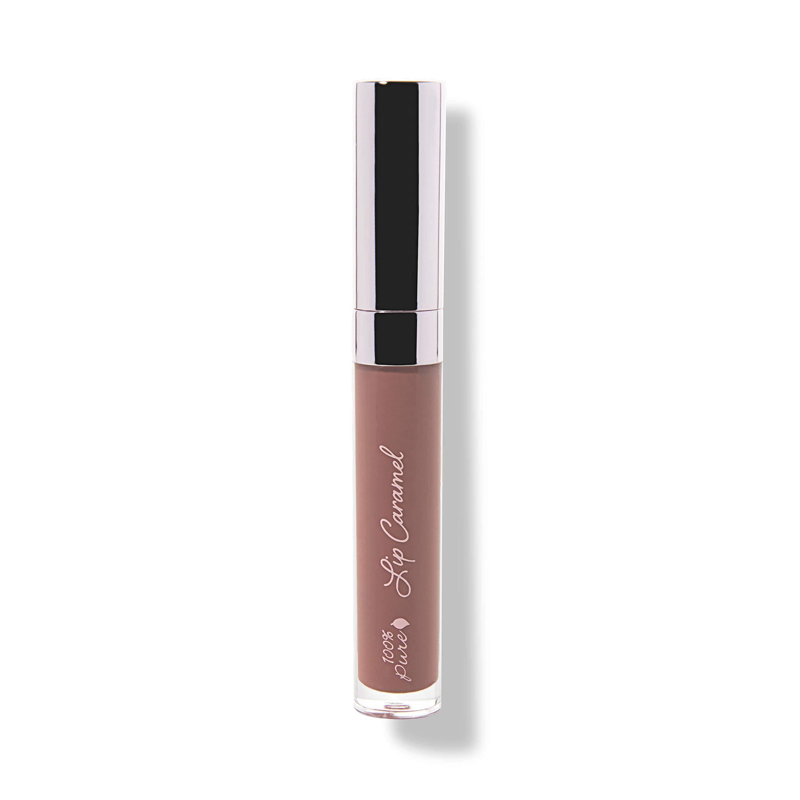 100% PURE Lip Caramel, Butterchew, Long Lasting Liquid Lipstick, Nude lipstick with Glossy Finish, Natural lipstick, Vegan Makeup (Pinky Brown Nude Color) - 0.177 Fl Oz