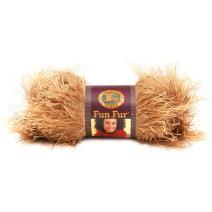 Lion Brand Yarn 320-171 Fun Fur Yarn, Amber
