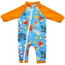 Nozone Tahiti Full Zip Sun Protective Baby Swimsuit - in Your Choice of Colors - UPF 50+