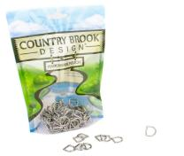 100 - Country Brook Design - 3/8 Inch Die Cast Square Bottom D-Rings
