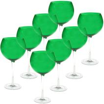 Certified International Red Wine Stemware Glass (Set of 8), 28 oz, Green