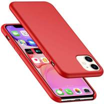 AnsTOP iPhone 11 Case, Anti-Slip Liquid Silicone Gel Rubber Bumper Cases with Soft Microfiber Lining Cushion Slim Hard Shell Shockproof Protective Case Cover for iPhone 11 (6.1 inch), 2019 - Red