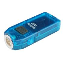 MecArmy SGN5 USB Rechargeable Personal Attack Alarm Flashlight | Mini Handheld EDC Keychain Torch | CREE LED with 560 Lumens Small and Powerful Light | Alarm up to 115dB Siren (Blue)