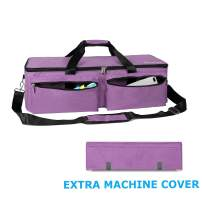 SivaLife Carrying Bag Compatible with Cricut Explore Air and Maker, Durable Tote Bag Compatible with Cricut Explore Air, Silhouette Cameo 3 and Supplies (Purple)