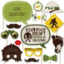 Big Dot of Happiness Sasquatch Crossing - Bigfoot Party or Birthday Party Photo Booth Props Kit - 20 Count