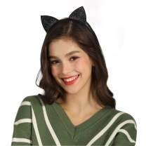 Cat Ear Headbands Glitter Cat Hairband Hair Hoops for Women Girls Halloween Party Cosplay