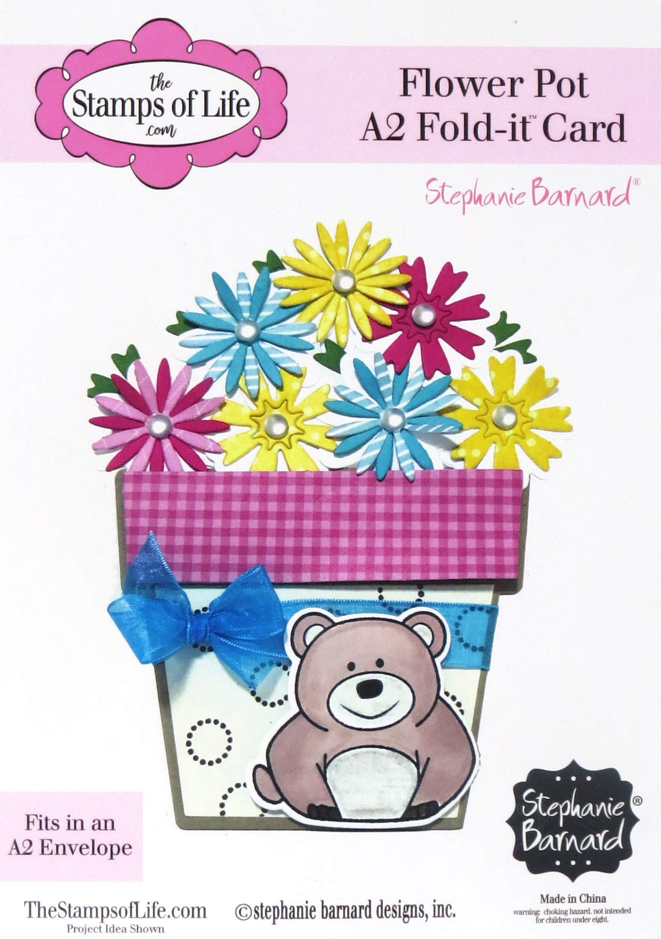 Flower Pot A2 Fold It Die Kit DIY Crafts for Card Making and Scrapbooking by The Stamps of Life