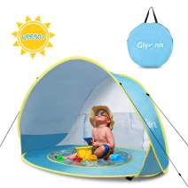 Glymnis Baby Beach Tent Pop Up Portable Shade Sun Shelter with Pool 50+ UPF UV Protection for Baby or Infant Blue