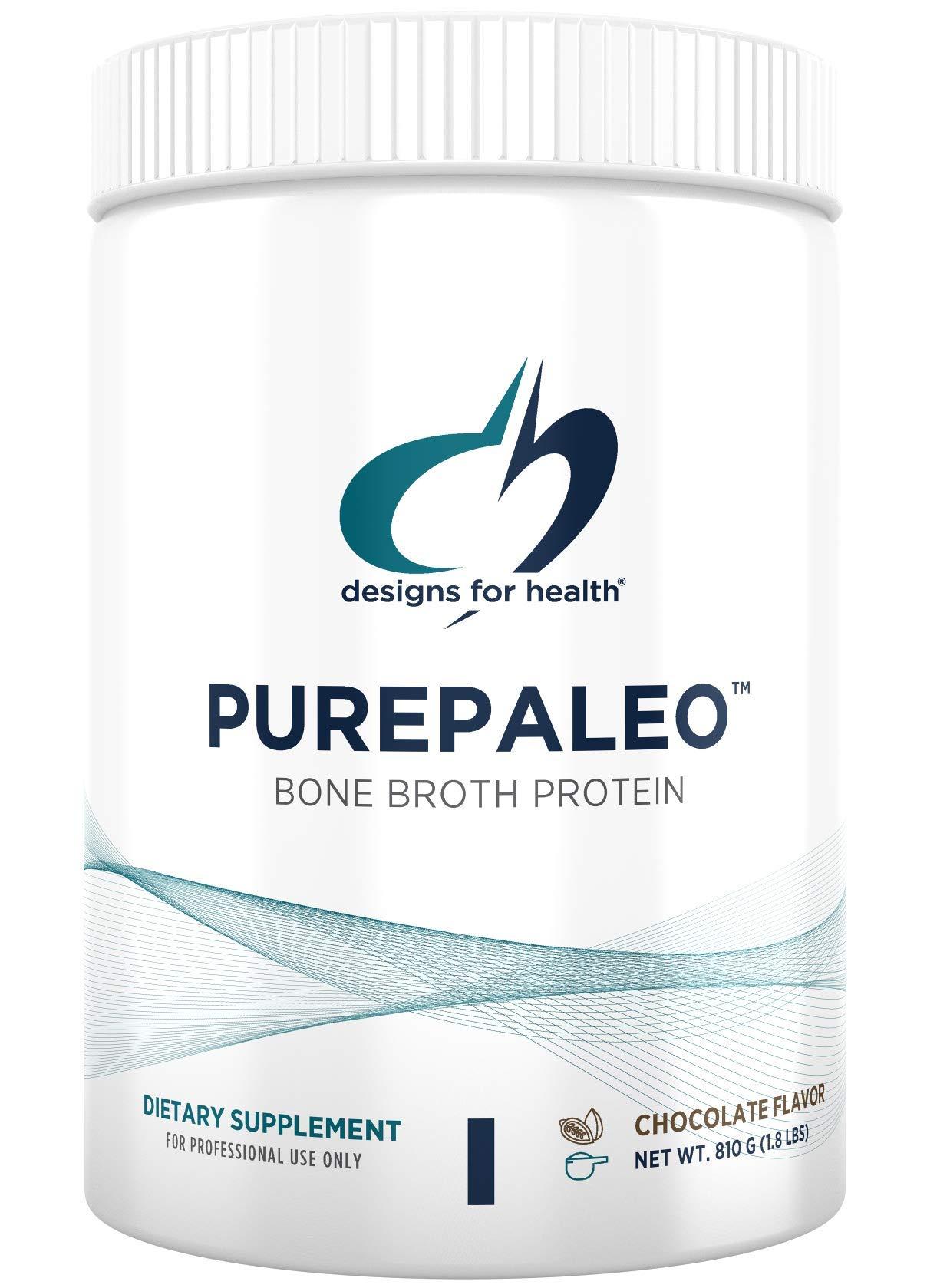 Designs for Health PurePaleo Collagen Protein Powder - Paleo Protein Powder - 21g HydroBEEF Protein with Collagen Peptides + BCAAs - Chocolate - Non GMO and Gluten Free (30 Servings / 810g)