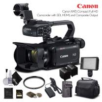 Canon XA15 Compact Full HD Camcorder 2217C002 with 64GB Memory Card, Extra Battery and Charger, UV Filter, LED Light, Case and More. - Starter Bundle