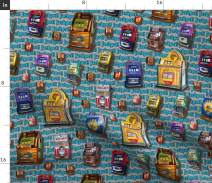 Spoonflower Fabric - Deans Machine Gambling Casino Retro Printed on Lightweight Cotton Twill Fabric by The Yard - Sewing Bottomweight Fashion Apparel Home Decor