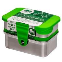 Ecolunchbox 3-in-1 Leak-Proof Stainless Steel Bento Box, Splash-Box