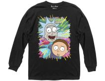 Ripple Junction Rick and Morty Jungle Warp Faces Long Sleeve
