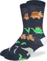 Good Luck Sock Men's Extra Large Jurassic Dinosaur Socks, Size 13-17 Big & Tall