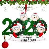 Personalized Name Quarantine Survivor Christmas Ornament Kit 2020 Family Customized Decorative Hanging Ornaments Christmas Ornaments Decorating Kit Creative Gift for Family 4