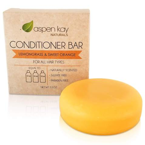 Solid Conditioner Bar, Made With Natural & Organic Ingredients, All Hair Types, Sulfate-Free, Cruelty-Free & Vegan 2.3 Ounce Bar. (CITRUS 1 PACK)