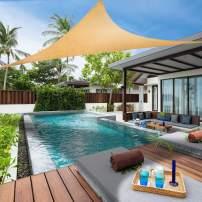 Lehood Sun Shade Sail 8' x 8'x 8' Triangle Canopy Sail UV Block Sun Shade for Outdoor Patio Garden Backyard Sand Color