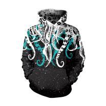 Memoryee 3D Realistic Octopus Graphic Design Pullover Fleece Sweatshirts Hoodie for Youth Women Men