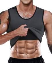 Men Neoprene Waist Trainer Sauna Sweat Suit Workout Vest Tank Top Tummy Control Shapewear Slimming Body Shaper