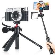Ulanzi MT-16 Camera Tripod Mini Tabletop Tripod Selfie Stick with Cold Shoe,Travel Tripod for Phone 12 Canon G7X Mark III Sony ZV-1 RX100 VII A6600 Vlogging Filmmaking Live Streaming