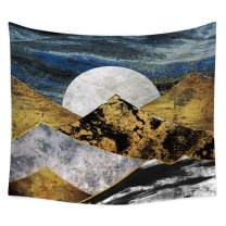 "QCWN Mountain Tapestry, Mountains Silhouette Watercolor Surface Abstract Design Wall Hanging Tapestry for Bedroom Living Room Dorm. (15, 59"" L51 W)"
