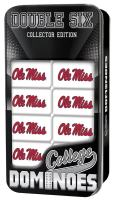 MasterPieces NCAA Mississippi Ole Miss Rebels, Collectible Double Six Dominoes, For Ages 6+