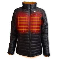 Venture Heat Women's Heated Jacket with Battery - Traverse Electric Puffer Heated Coat, USB Powered