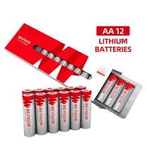 Bevigor AA Lithium Batteries, 12Pack Ultimate Lithium Double A Batteries, 1.5V 3000mAh Longer Lasting AA Batteries for Flashlight, Toys, Remote Control, Non-Rechargeable
