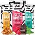 Keto Krisp Protein Snack Bars - Low-Carb, Low-Sugar - (12 Pack Variety) - Gluten-Free Crispy, Perfectly Delicious, Ketogenic Healthy Diet Snacks and Food